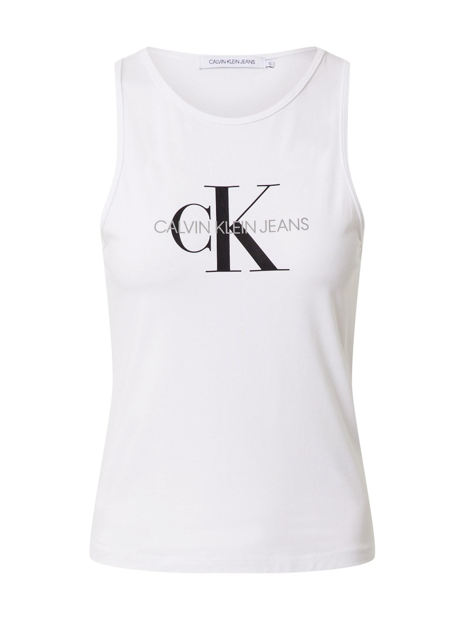 Calvin Klein Jeans Palaidinė be rankovių balta / juoda