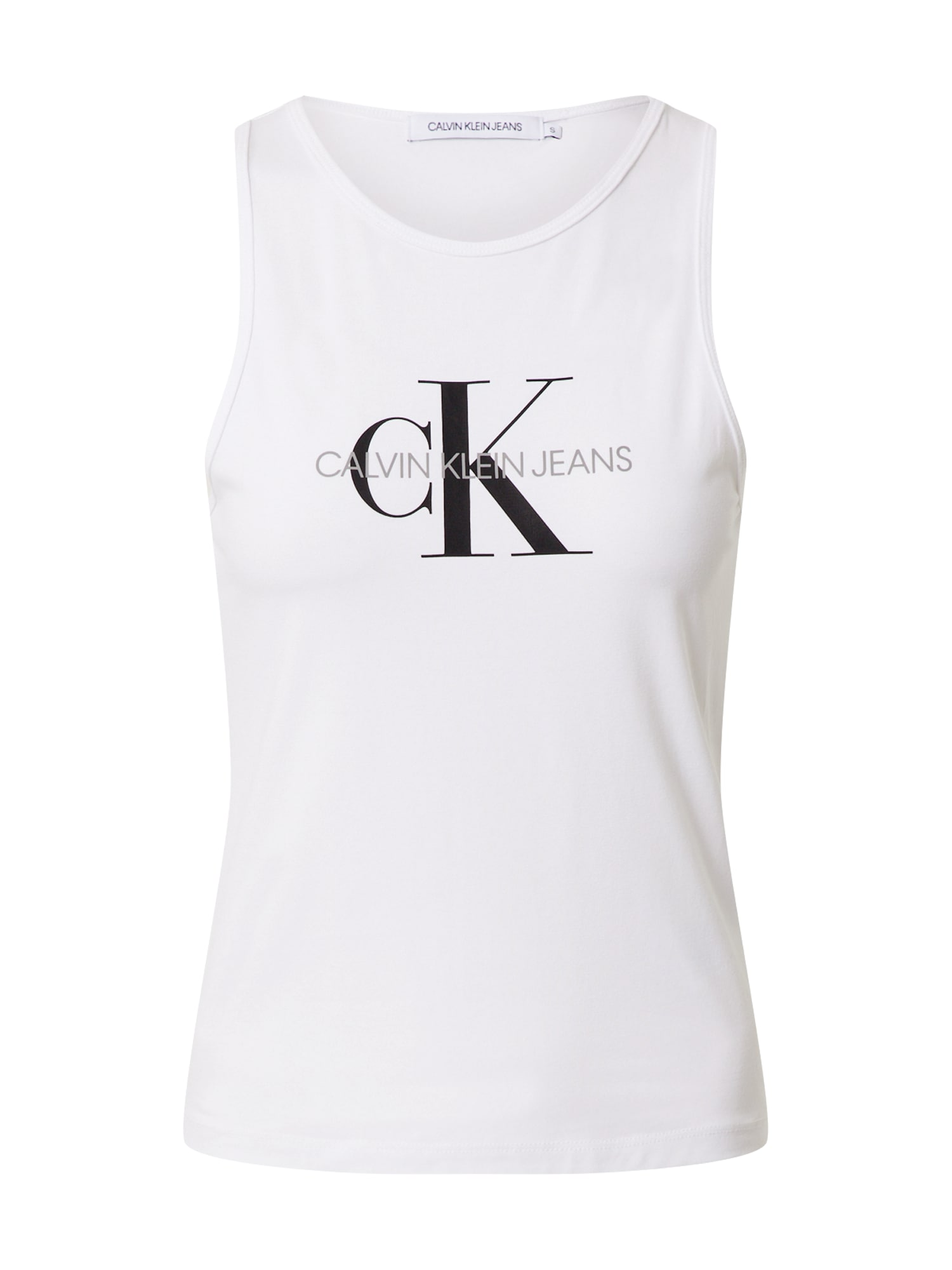 Calvin Klein Jeans Top  biela / čierna