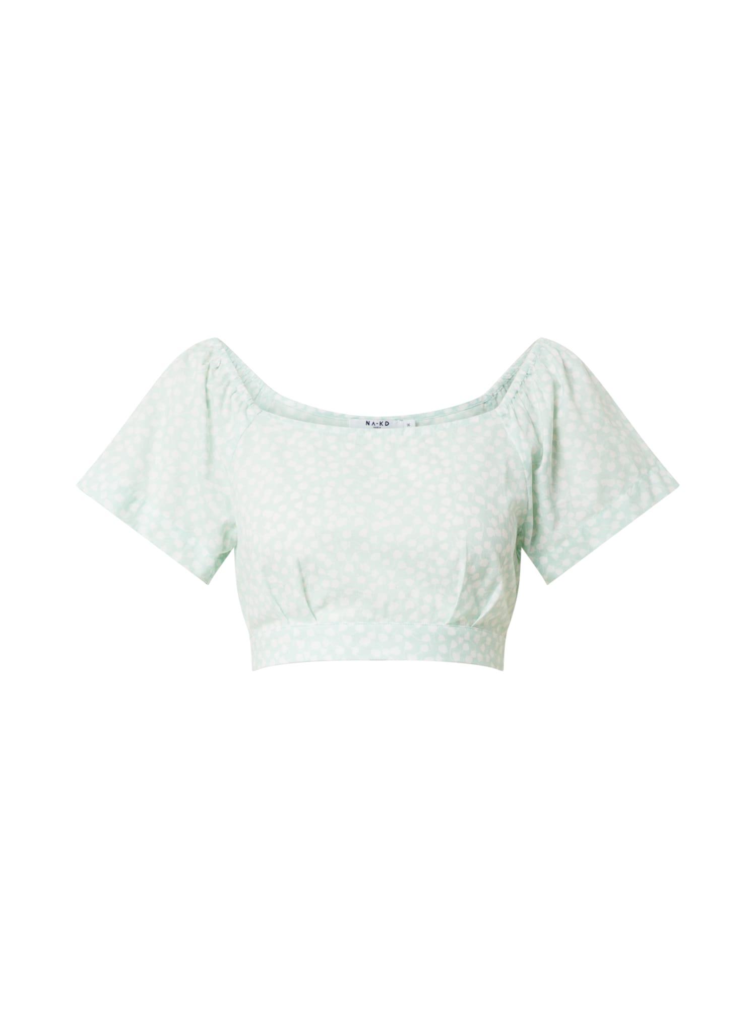 NA-KD Marškinėliai pastelinė žalia