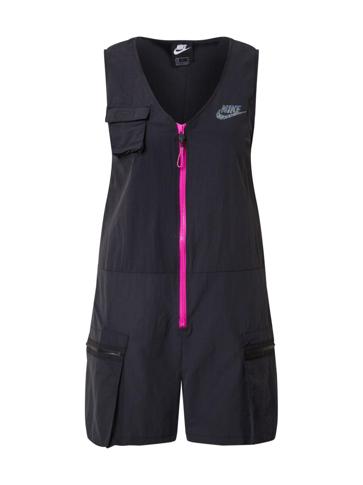 Nike Sportswear Overal 'W NSW ICN CLSH ROMPER'  čierna