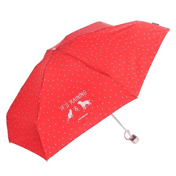 Regenschirme für Frauen - SAMSONITE Accessoires Taschenschirm 17 cm rot weiß  - Onlineshop ABOUT YOU