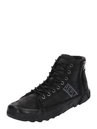 REPLAY Herren Sneaker mit Schnürung und Reißverschlüssen schwarz | 08056741786316