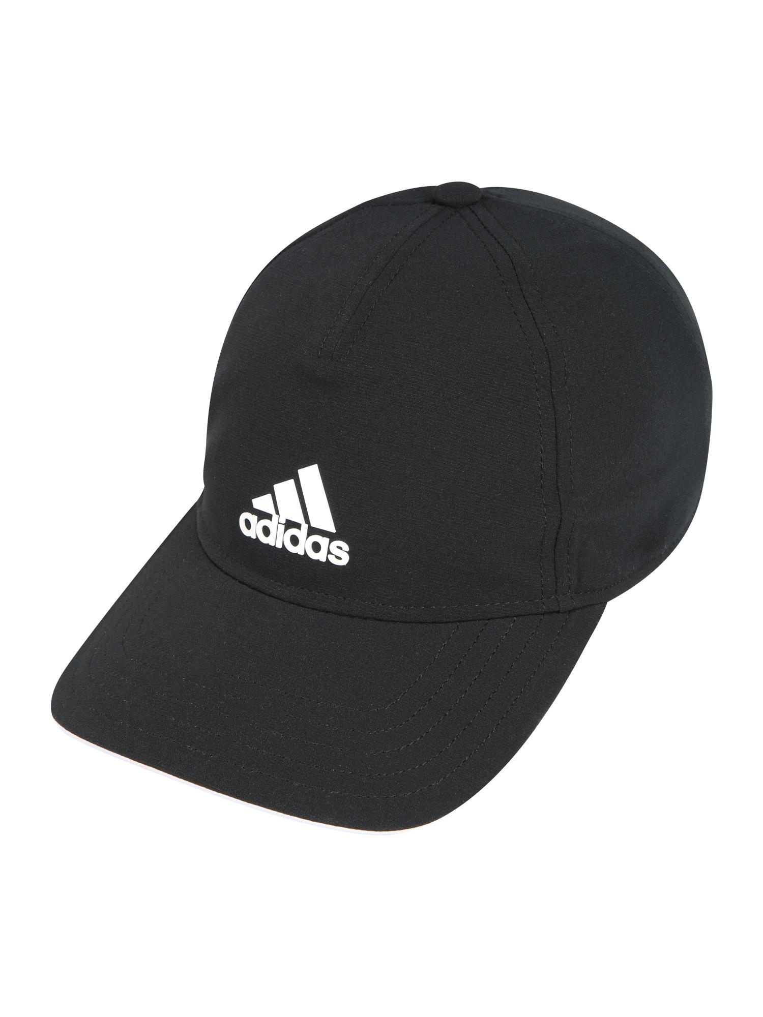 ADIDAS PERFORMANCE Sportinė kepurė juoda / balta