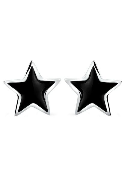 Ohrringe für Frauen - ELLI Ohrringe 'Sterne' schwarz silber  - Onlineshop ABOUT YOU