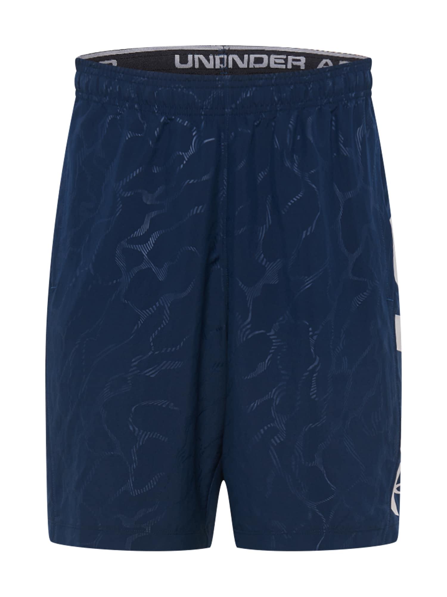 UNDER ARMOUR Sportinės kelnės tamsiai mėlyna / šviesiai pilka