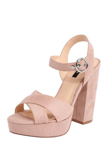 Sandalen für Frauen - ONLY Sandale 'Allie Wide Crossed Heeled' rosa  - Onlineshop ABOUT YOU
