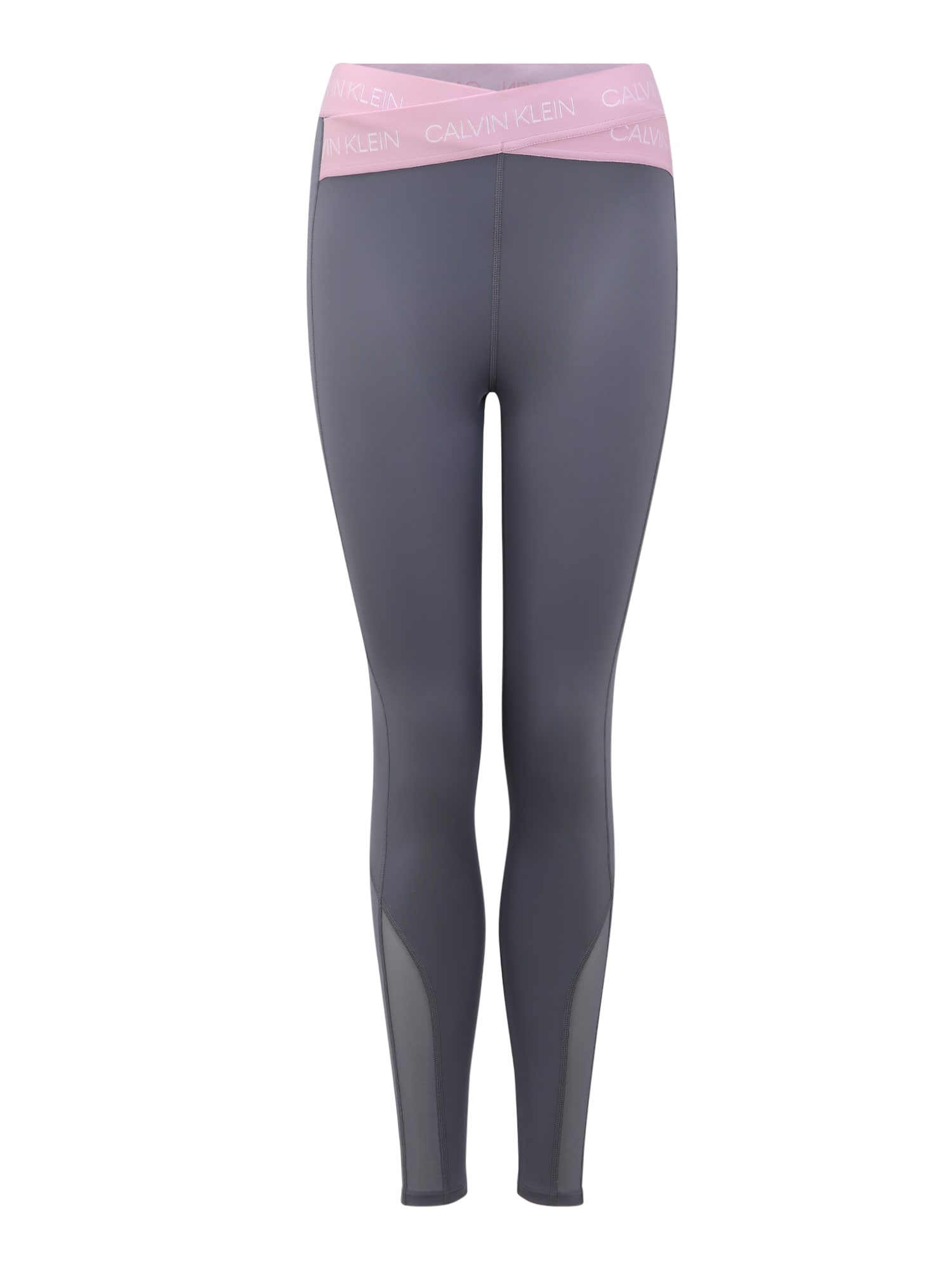 Calvin Klein Performance Sportinės kelnės rožių spalva / pilka