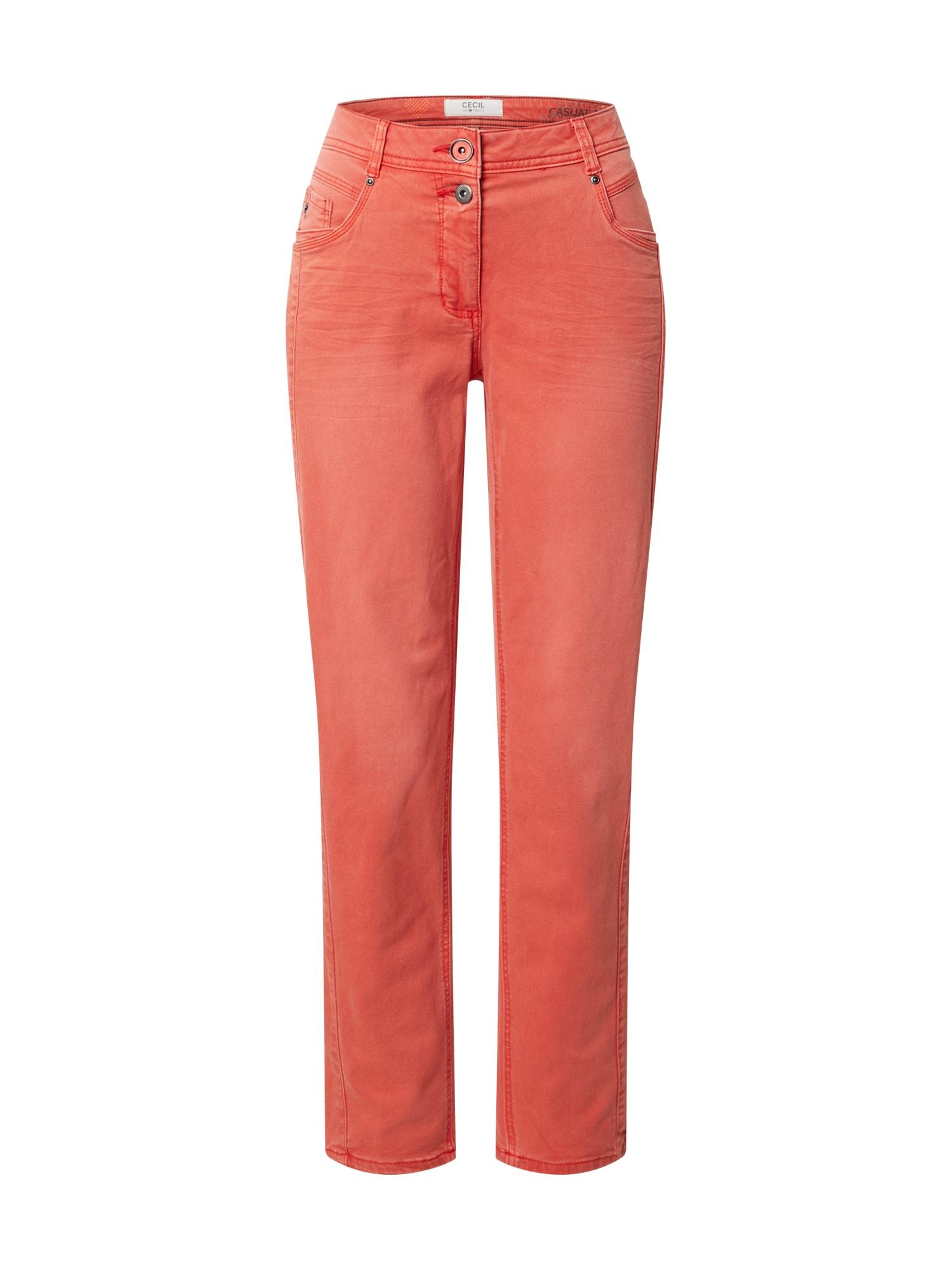 CECIL Džinsai oranžinė