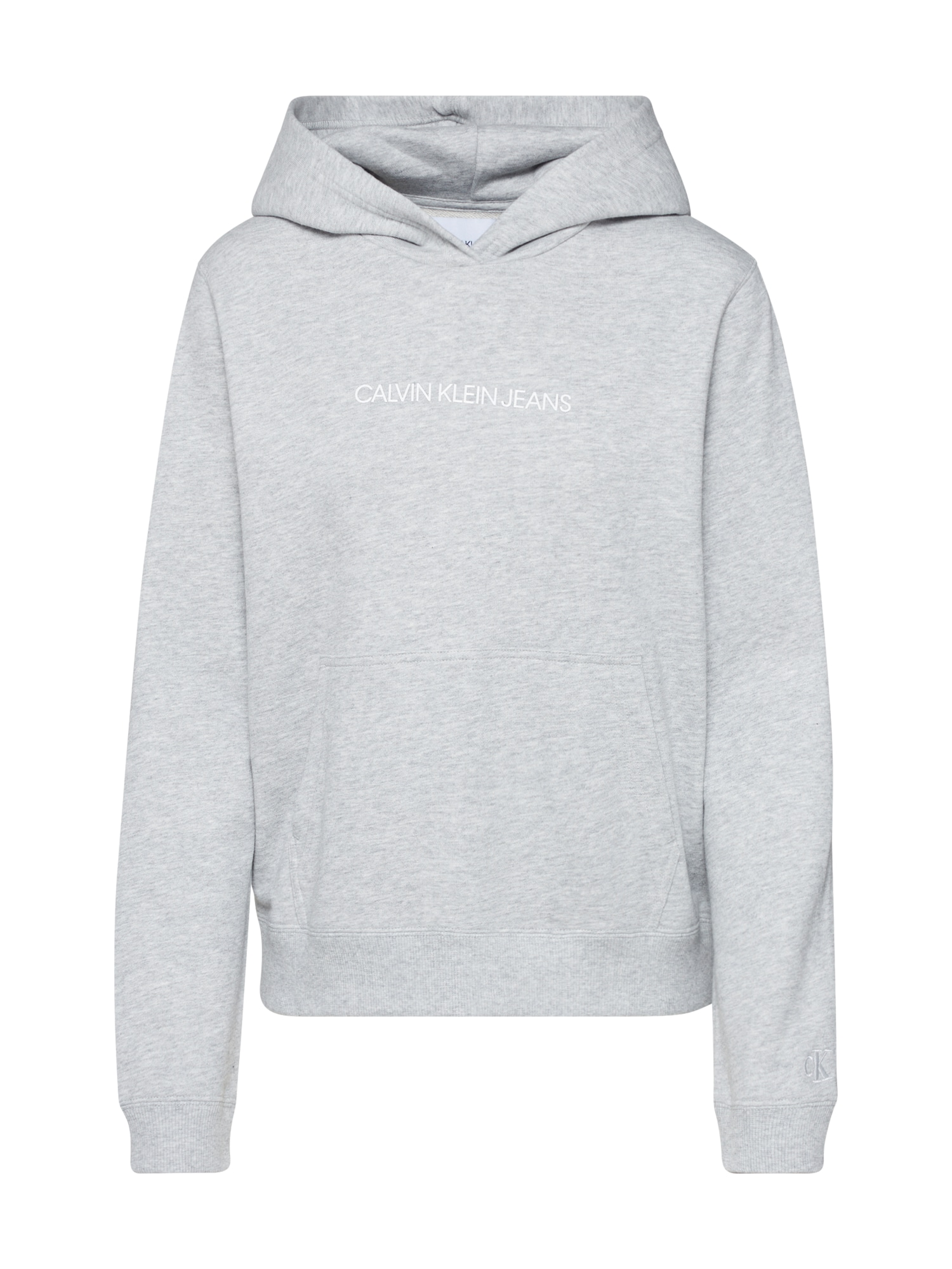 Calvin Klein Megztinis be užsegimo 'SHRUNKEN INSTITUTIONAL' margai pilka