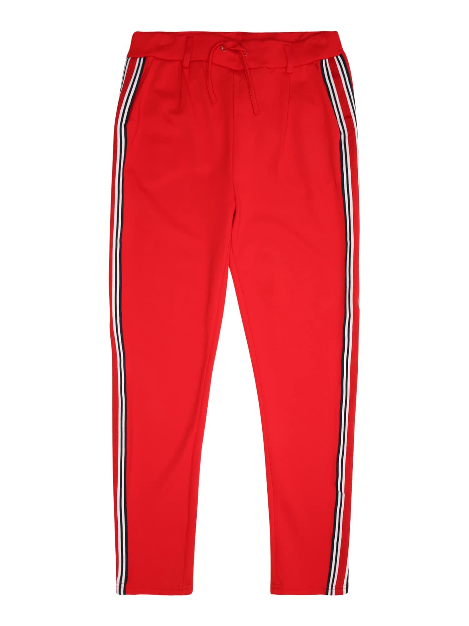 Kalhoty LMTD červená černá bílá NAME IT