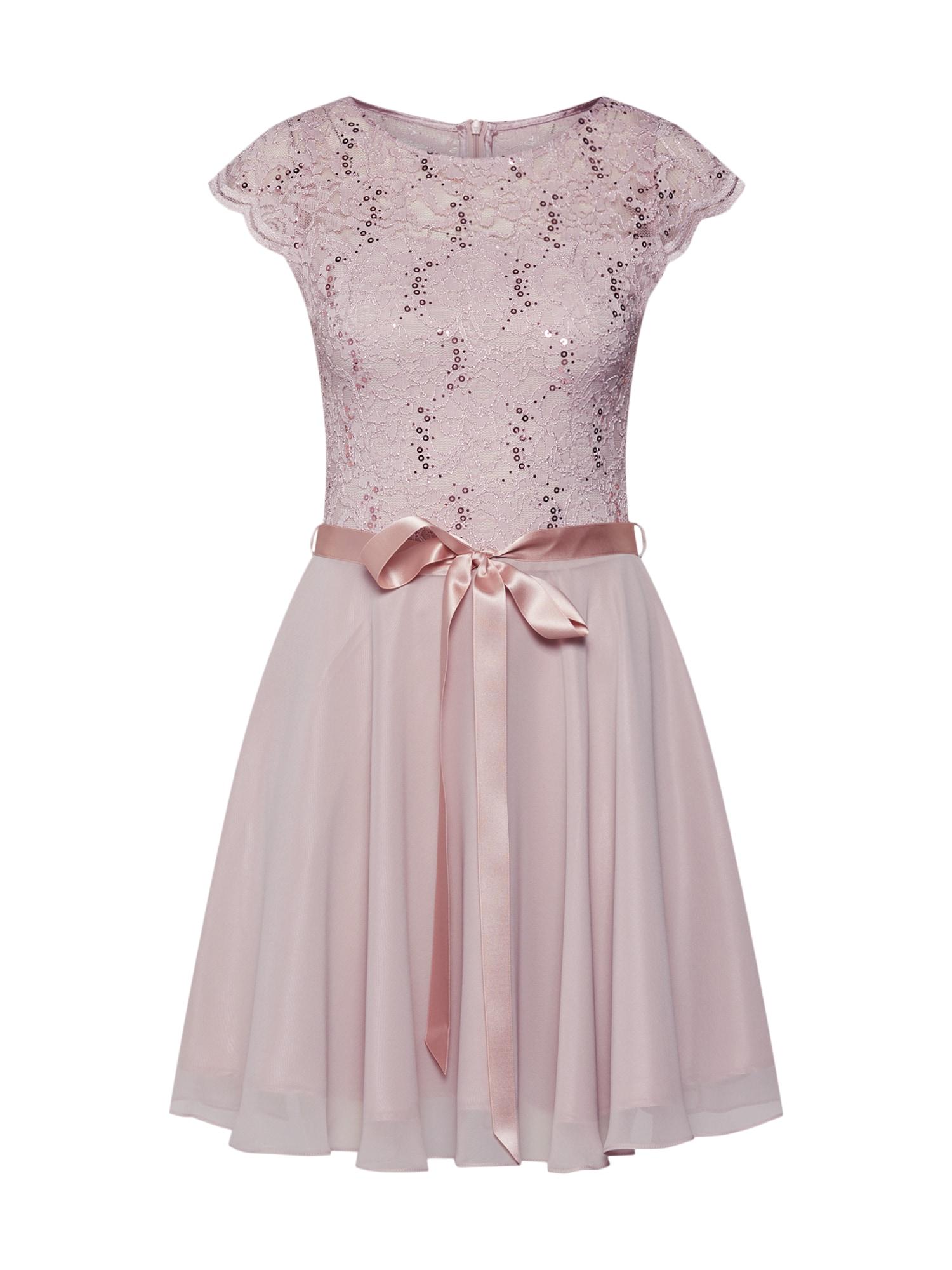 SWING Kokteilinė suknelė rožių spalva