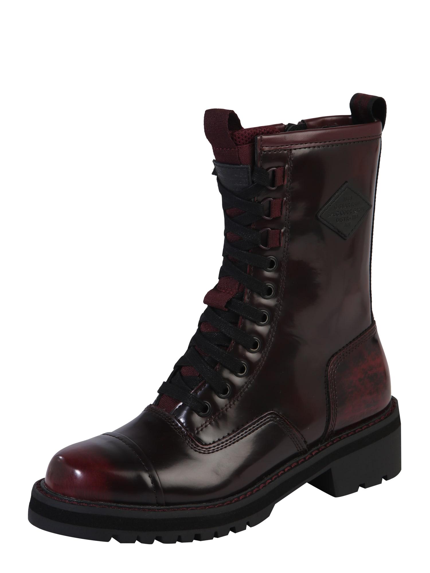 G-Star RAW Cizme 'Premium Minor Boot'  bordeaux