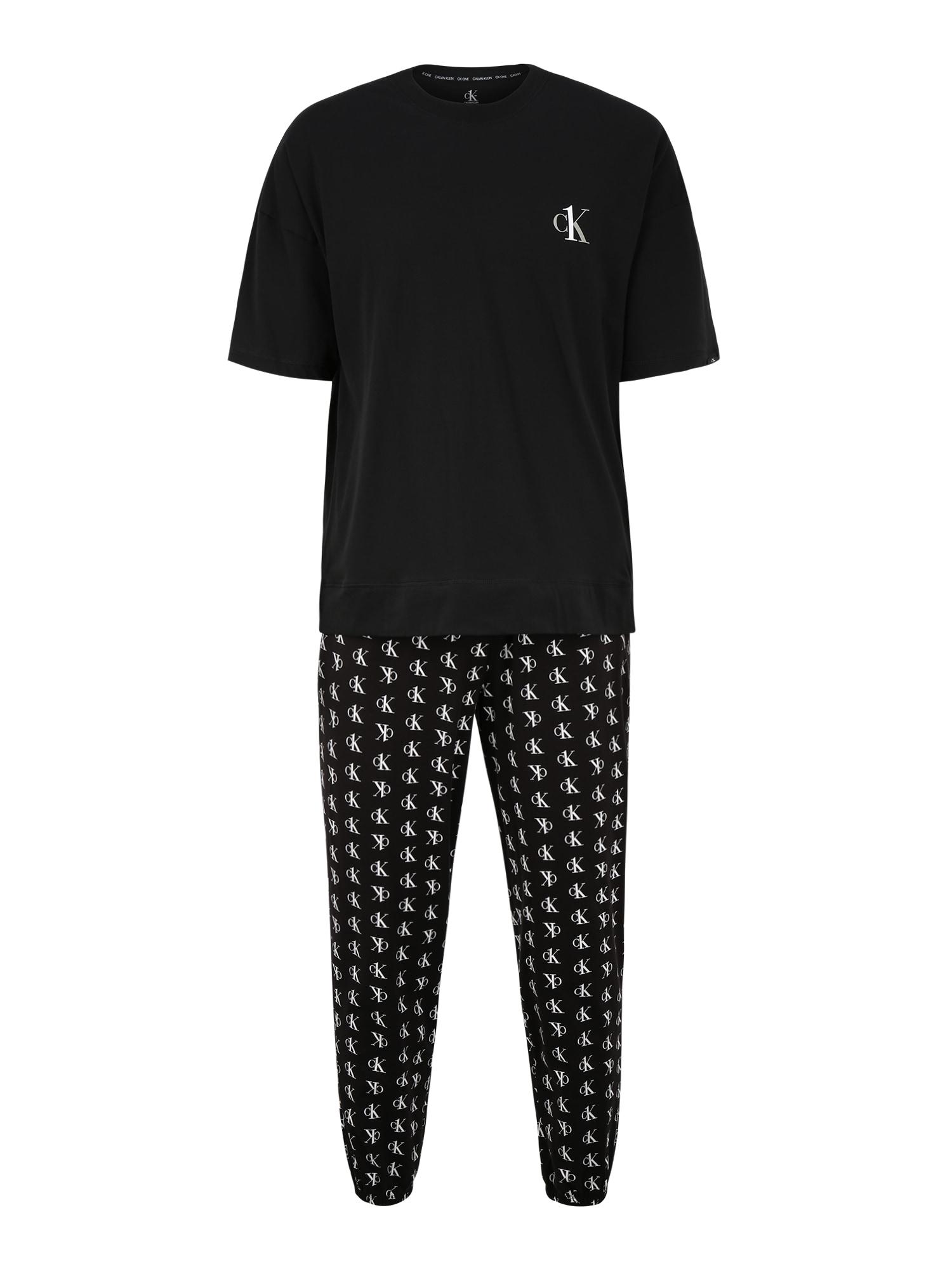 Calvin Klein Underwear Ilga pižama balta / juoda