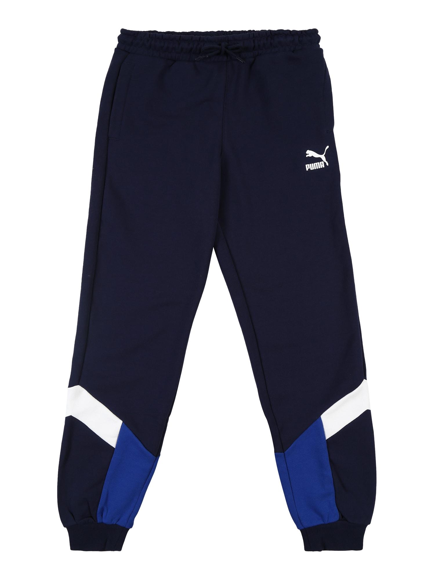 PUMA Sportovní kalhoty  modrá / námořnická modř / bílá