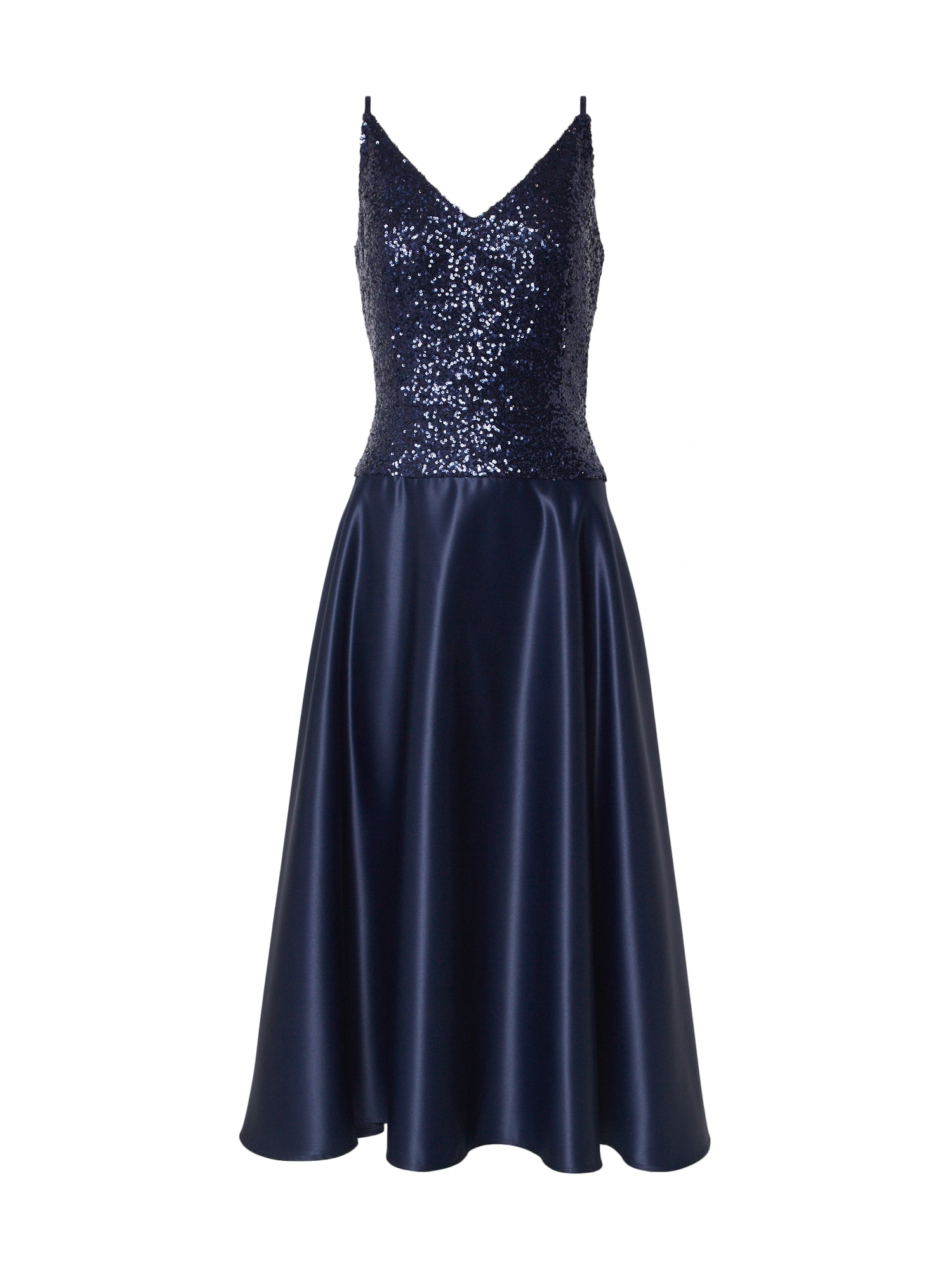 SWING Kokteilinė suknelė tamsiai mėlyna jūros spalva