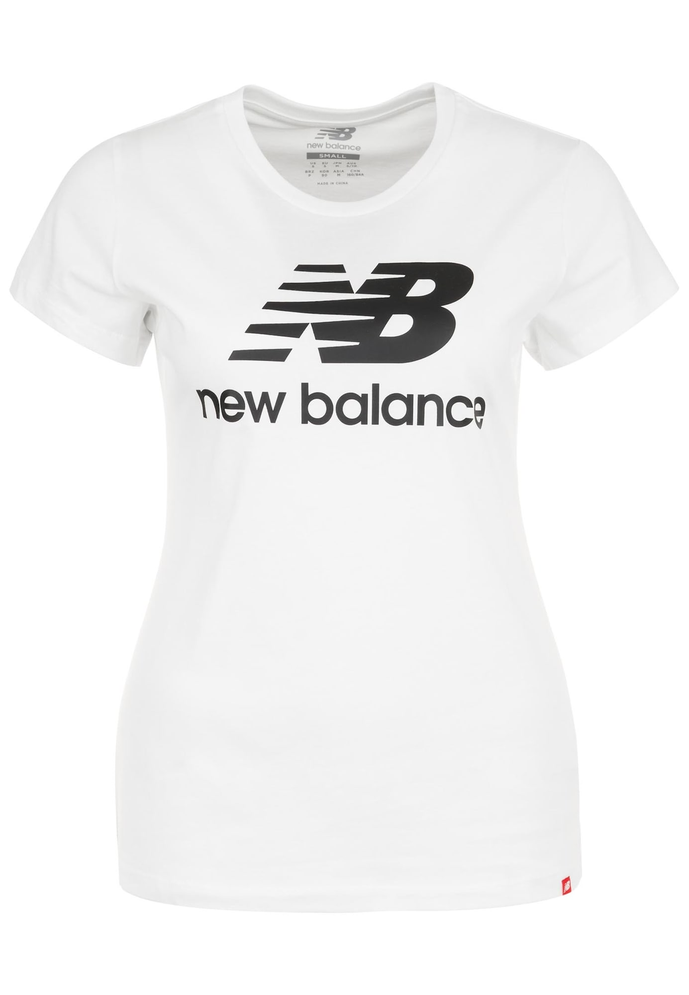 new balance Marškinėliai juoda / balta