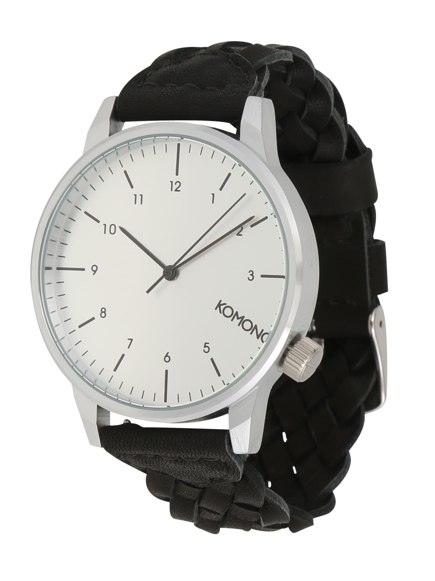 Analogové hodinky Winston černá stříbrná Komono