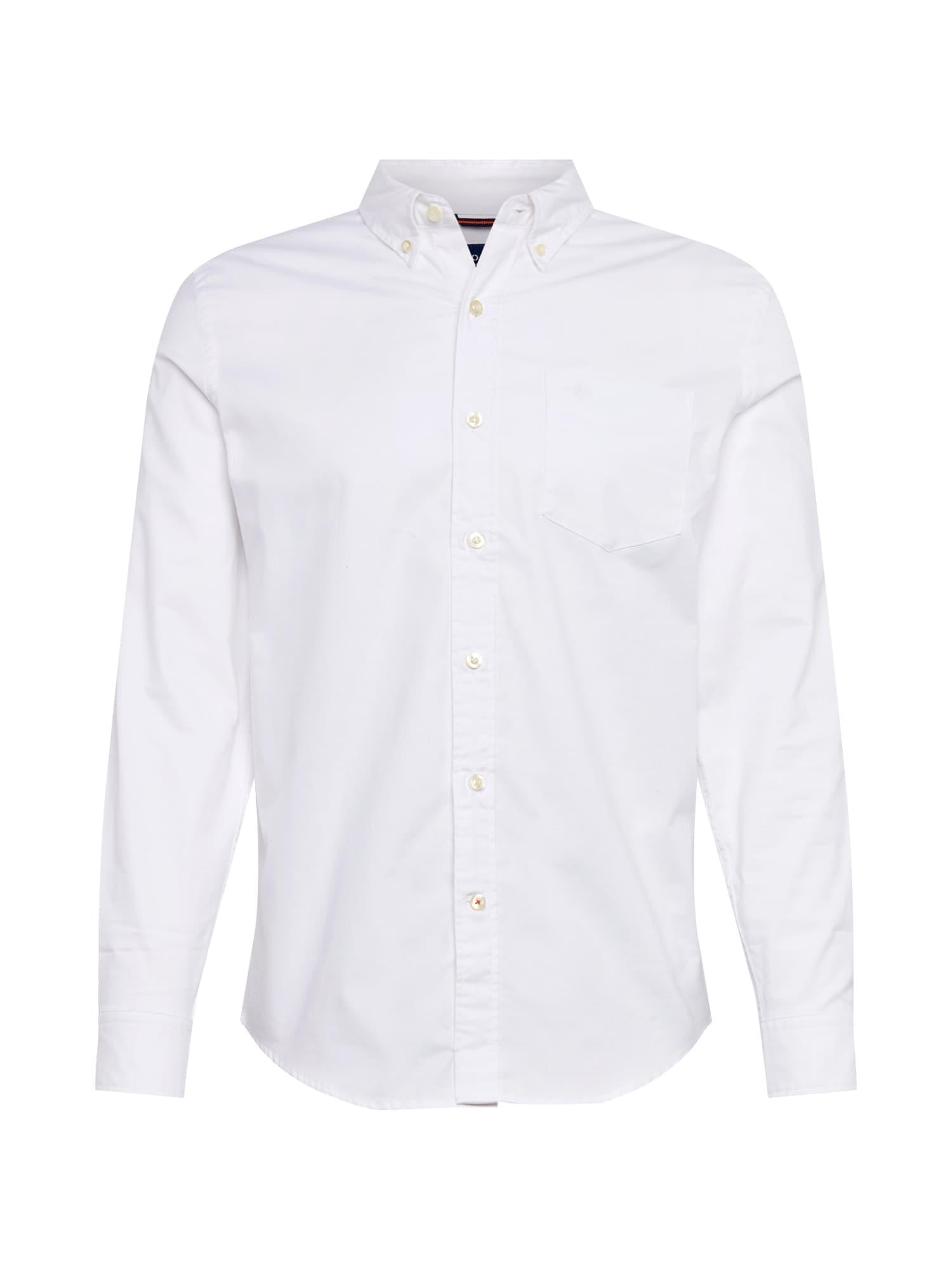 Košile STRETCH OXFORD SHIRT bílá Dockers