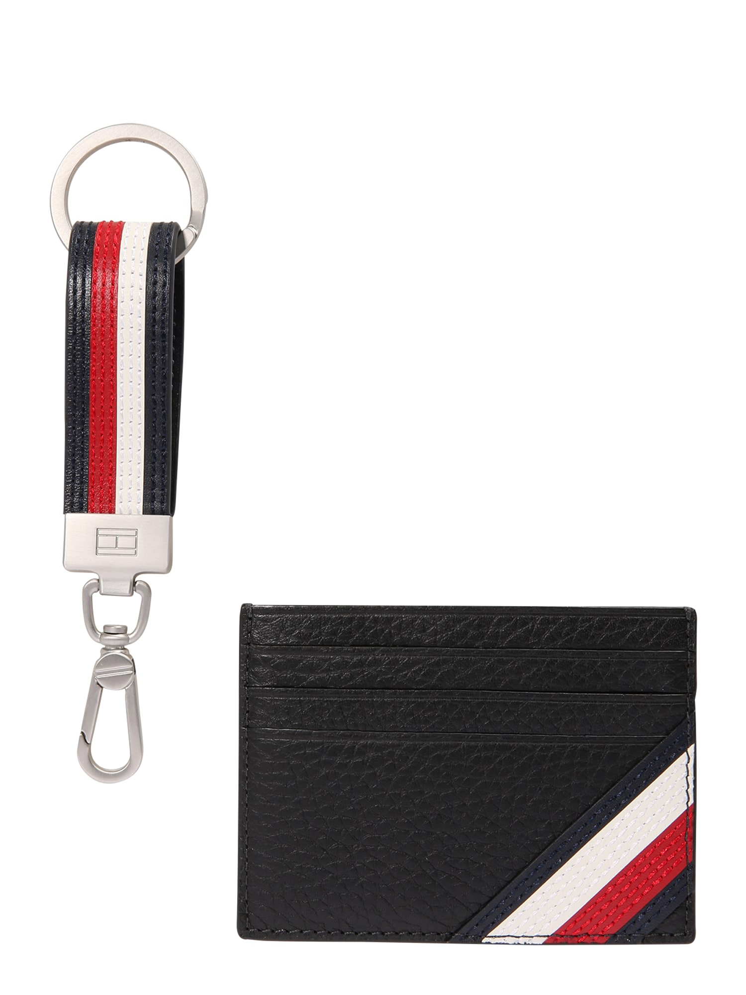 TOMMY HILFIGER Piniginė 'DOWNTOWN CC HOLDER & KEY FOB' juoda