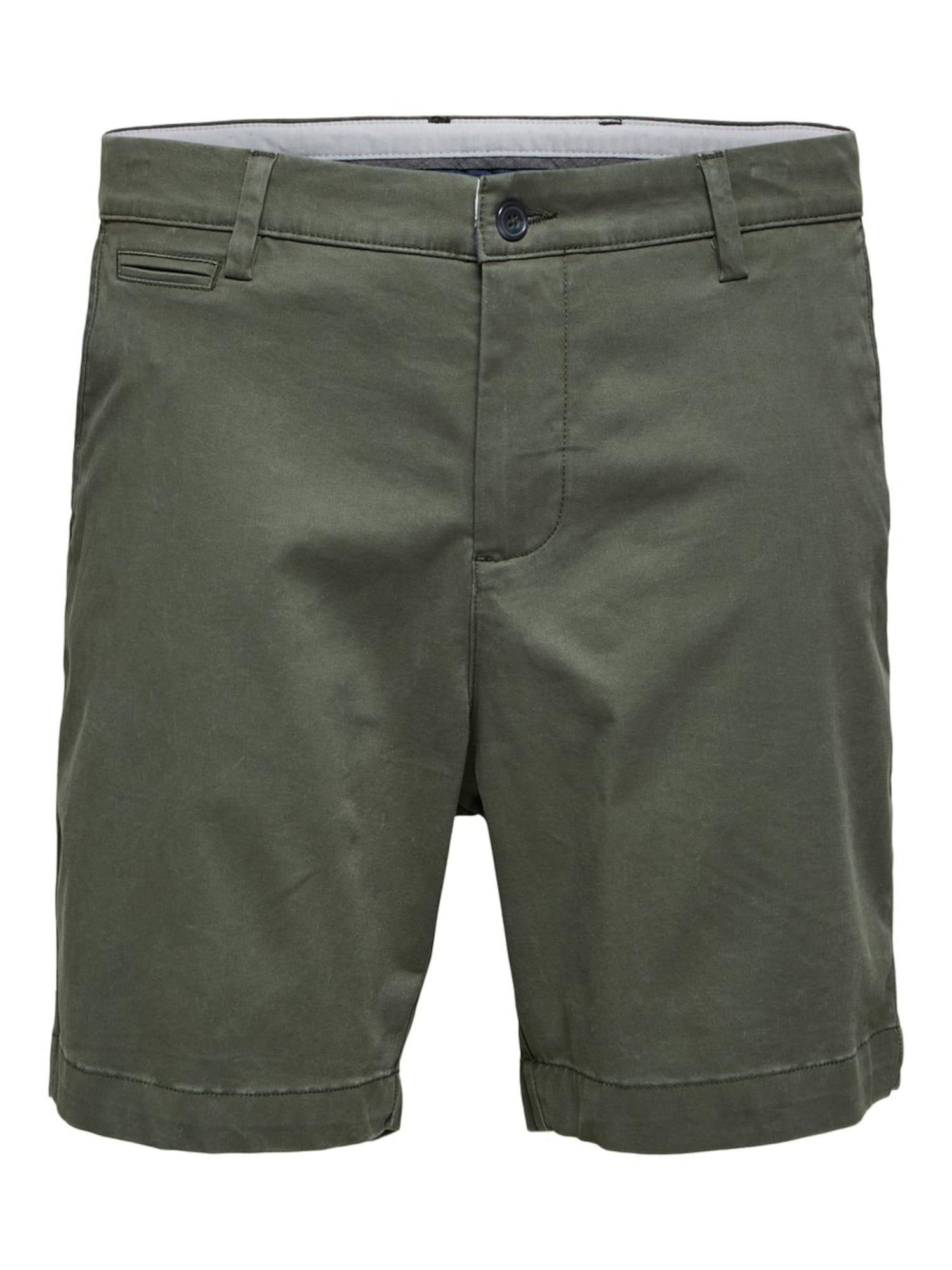 SELECTED HOMME Kelnės rusvai žalia