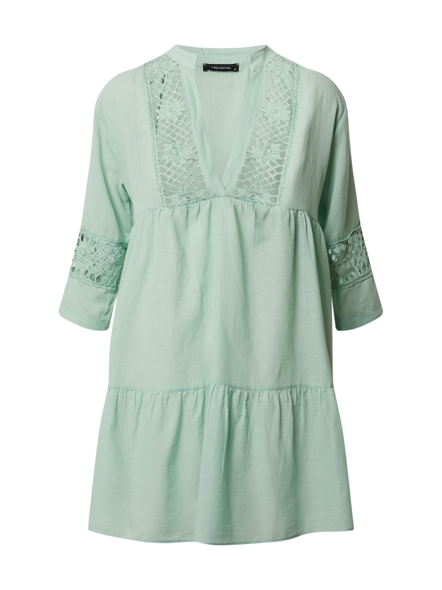 Trendyol Palaidinės tipo suknelė mėtų spalva