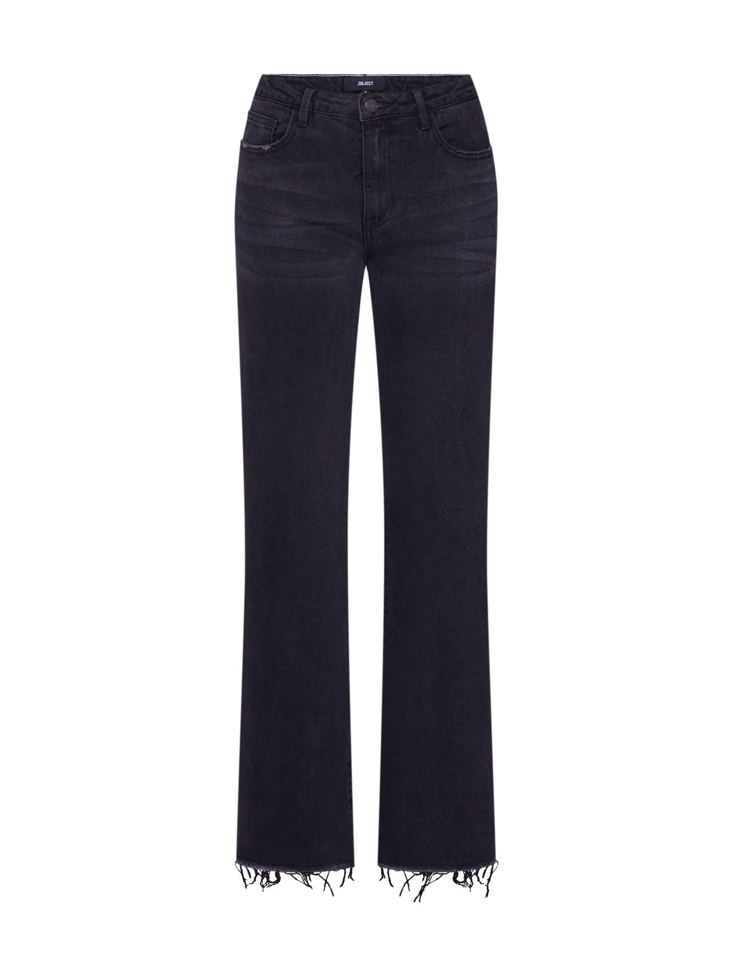 OBJECT Džinsai 'Sinya' juodo džinso spalva
