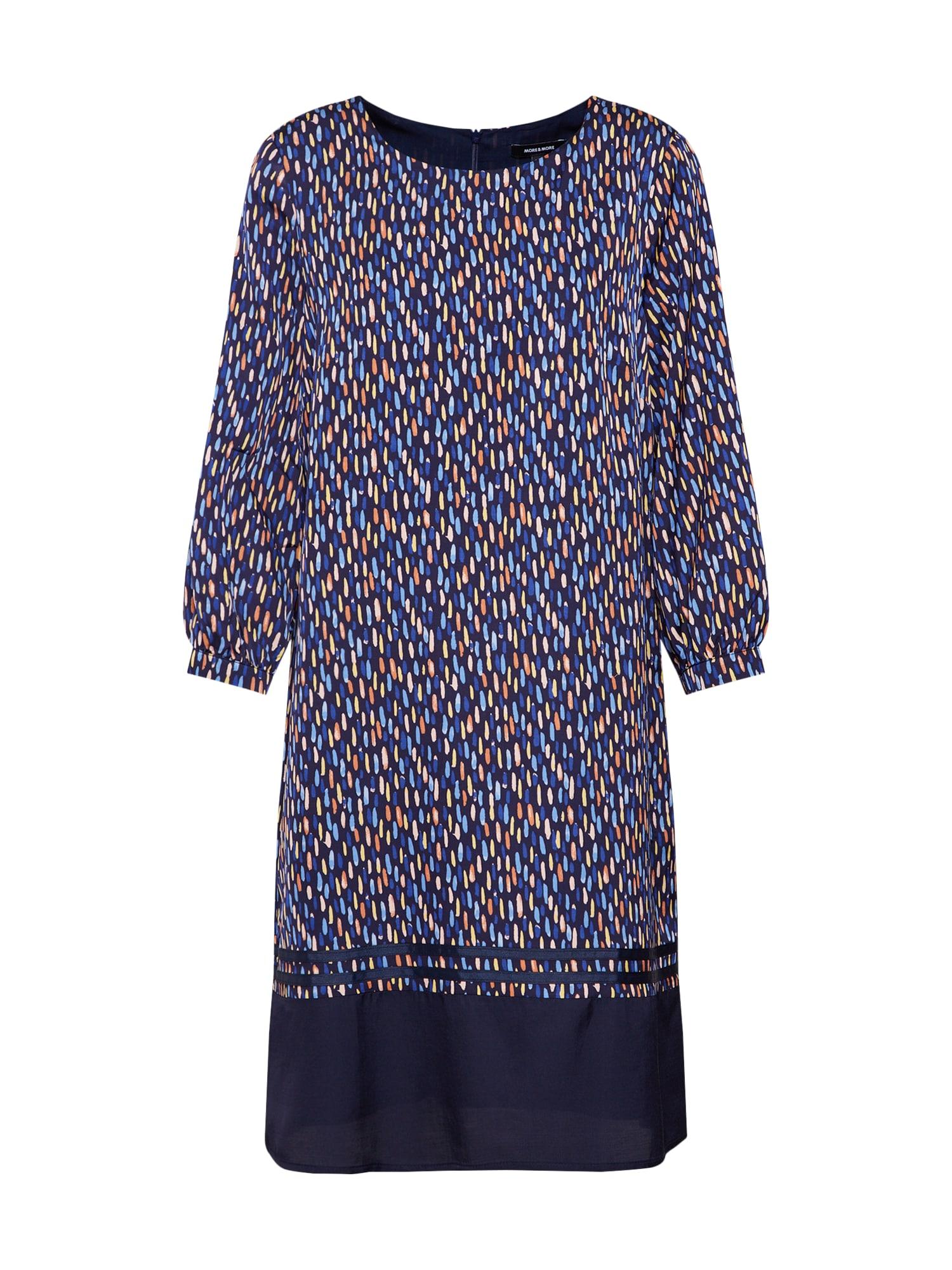Šaty Printed Rips Tape Dress Active námořnická modř mix barev MORE & MORE