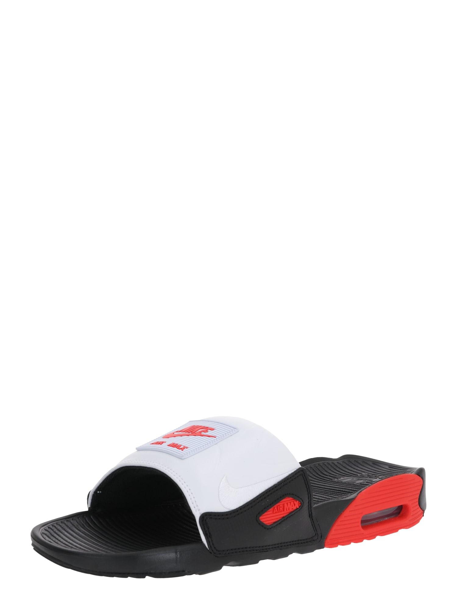 Nike Sportswear Šľapky ' AIR MAX 90'  biela / červené / čierna