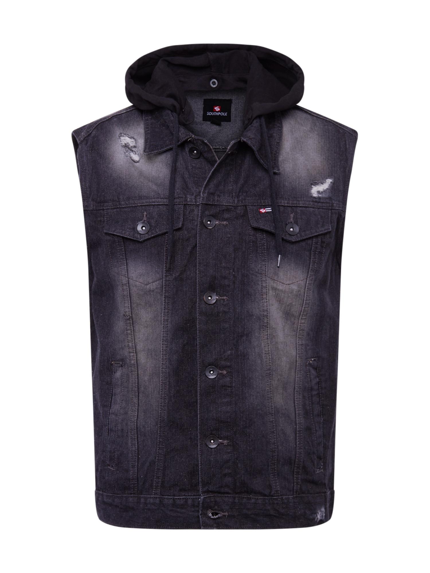 SOUTHPOLE Liemenė juodo džinso spalva