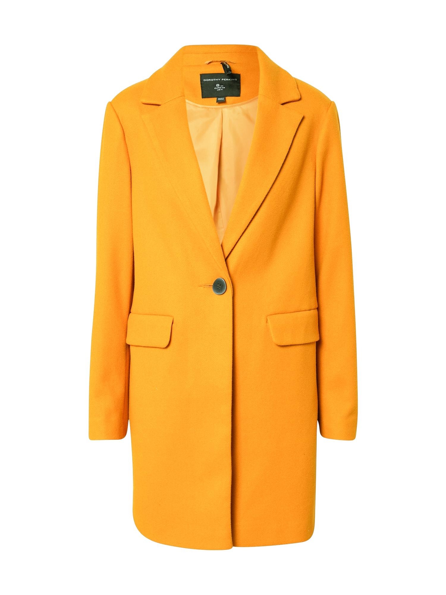 Dorothy Perkins Rudeninis-žieminis paltas 'MINIMAL' geltona