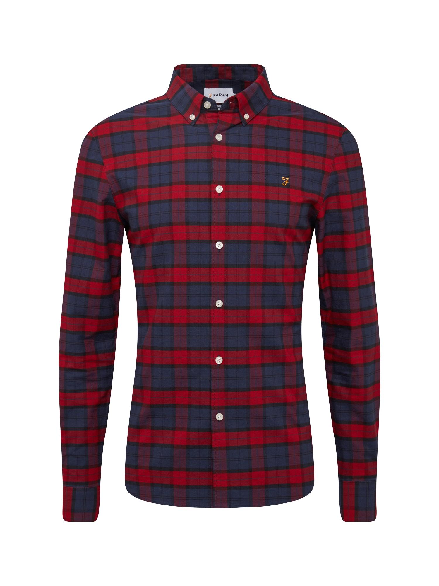 Košile BREWER CHECK tmavě modrá červená FARAH