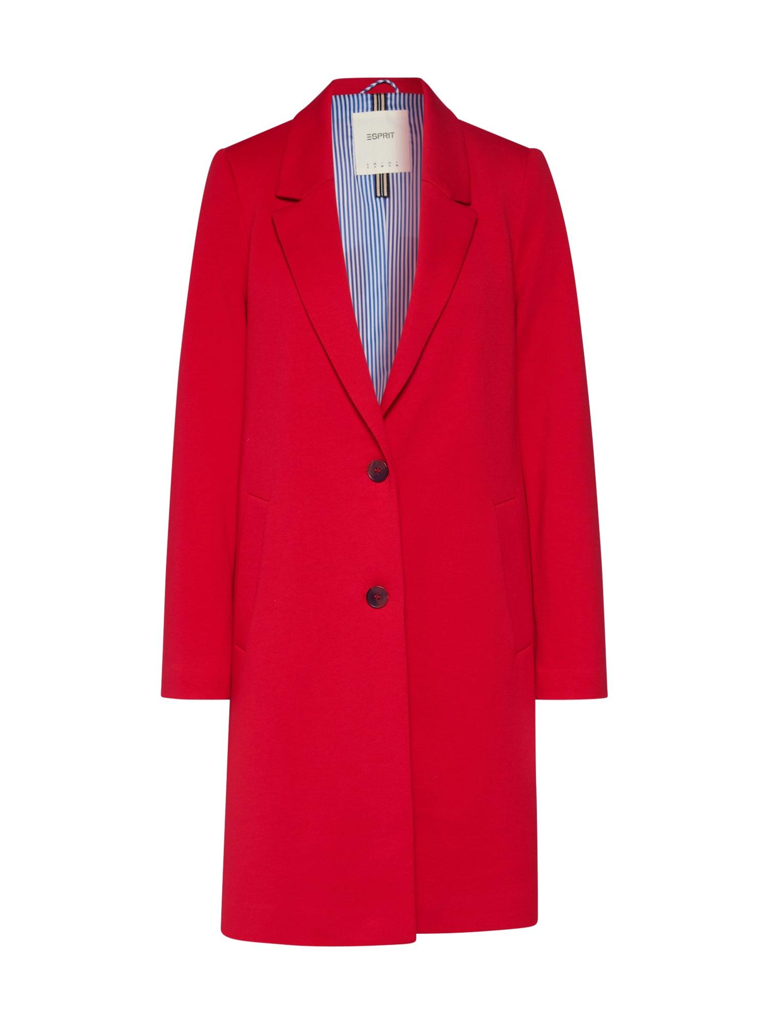 ESPRIT Žieminis paltas 'Jersey BlazerCoat' raudona