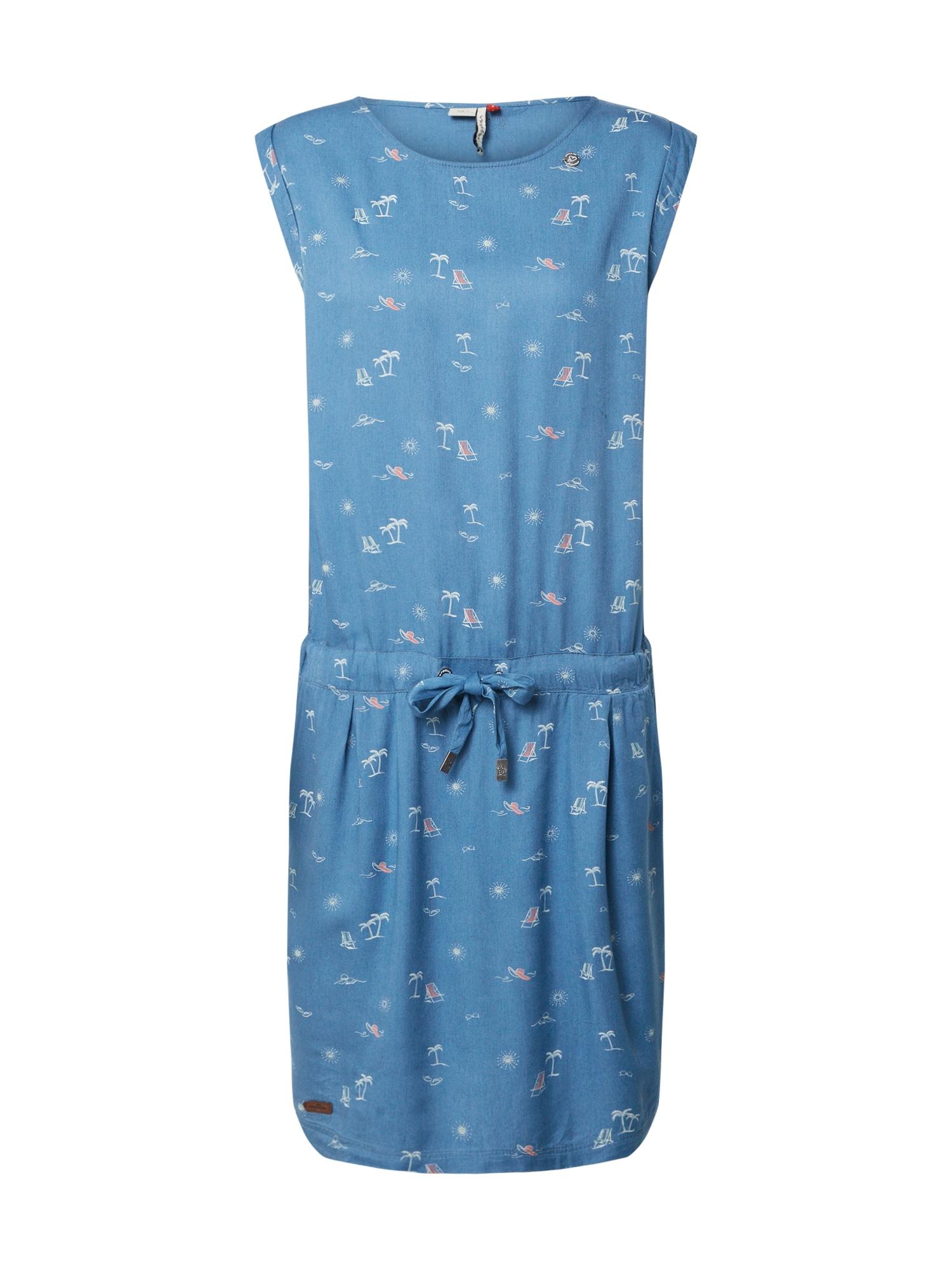 Ragwear Letné šaty 'MASCARPONE'  modré