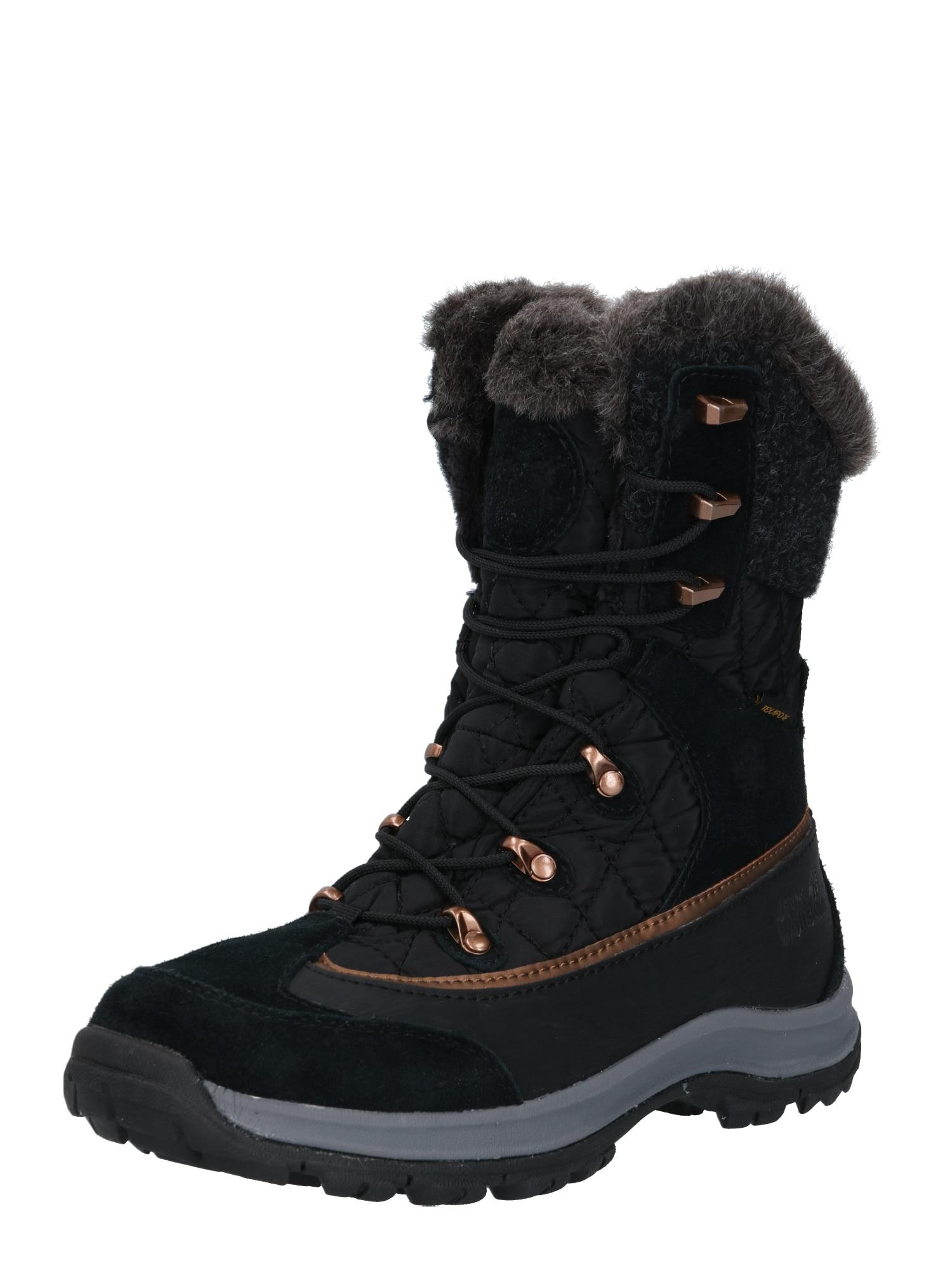 JACK WOLFSKIN Auliniai batai 'ASPEN TEXAPORE' tamsiai pilka / juoda