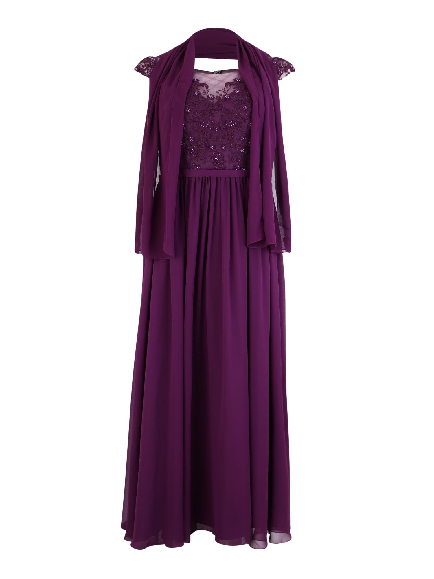 My Mascara Curves Vakarinė suknelė baklažano spalva