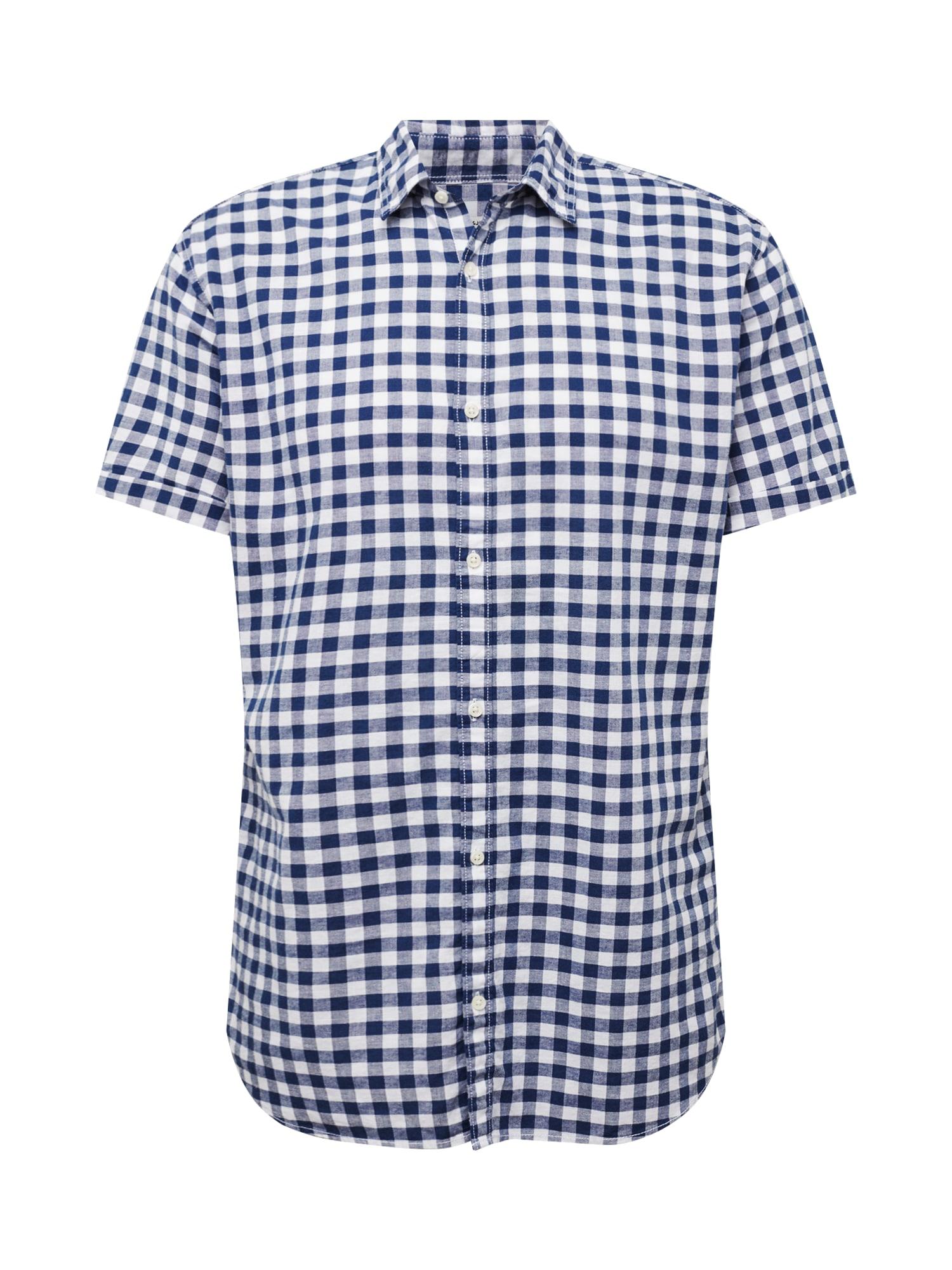 Košile tmavě modrá bílá JACK & JONES
