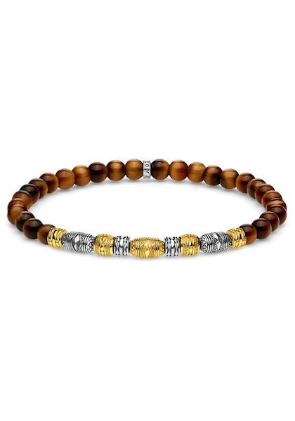 Armbaender für Frauen - Armband 'Talisman, A1921 966 2 L17, L19' › Thomas Sabo › braun gold silber  - Onlineshop ABOUT YOU