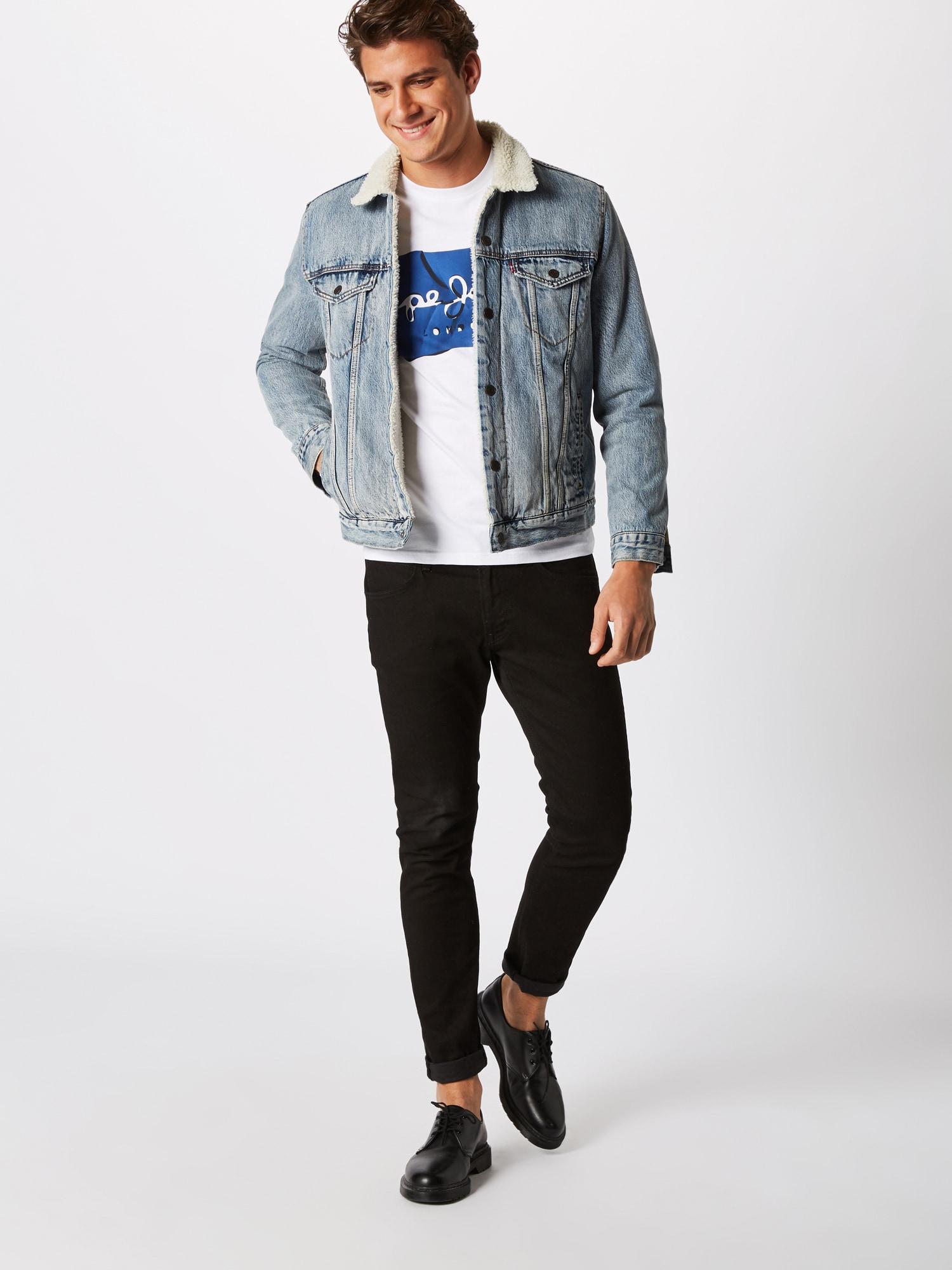 Pepe Jeans T-shirt 'Raury'  vit / blå
