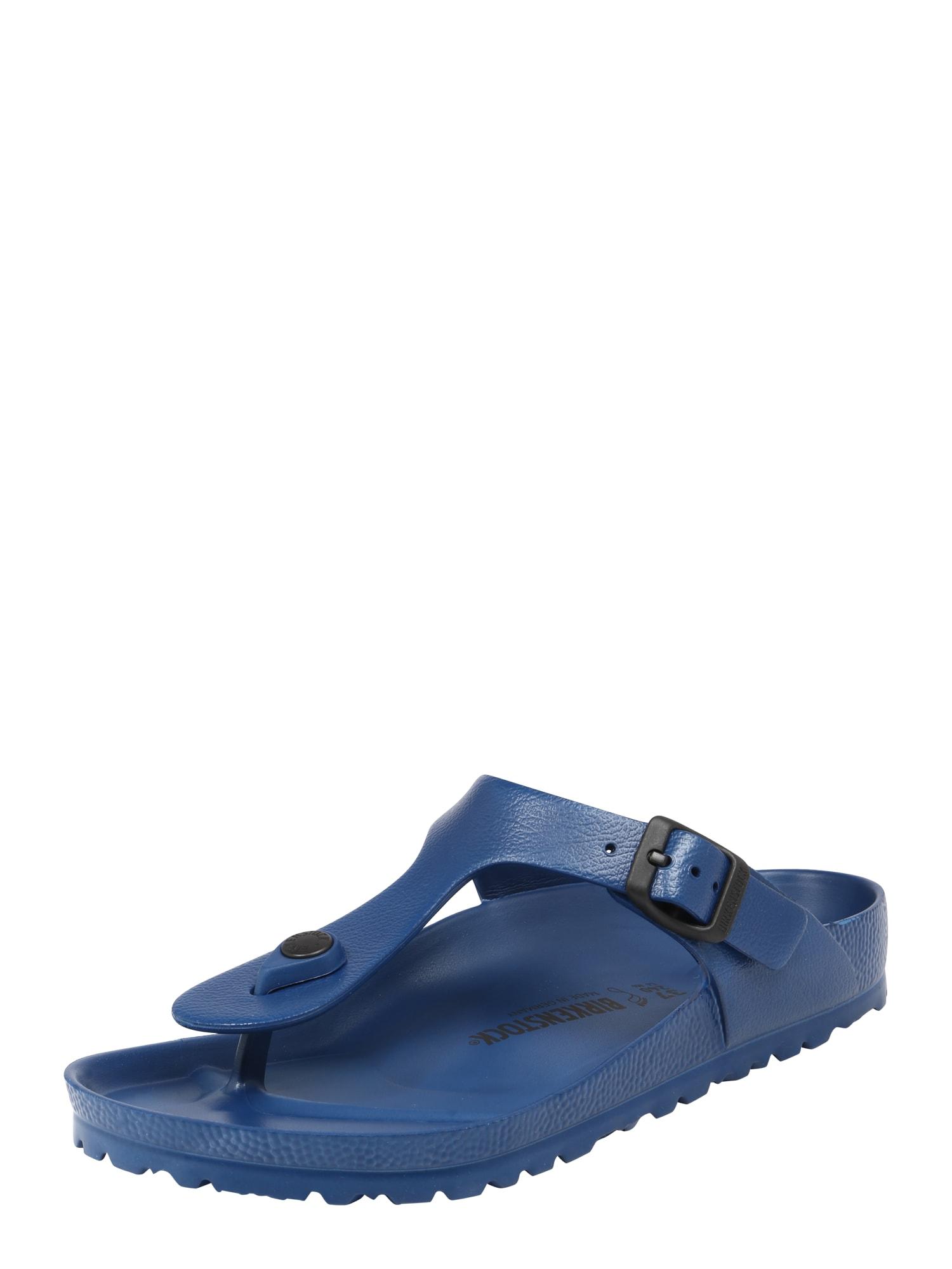 BIRKENSTOCK Šlepetės per pirštą 'Gizeh' tamsiai mėlyna