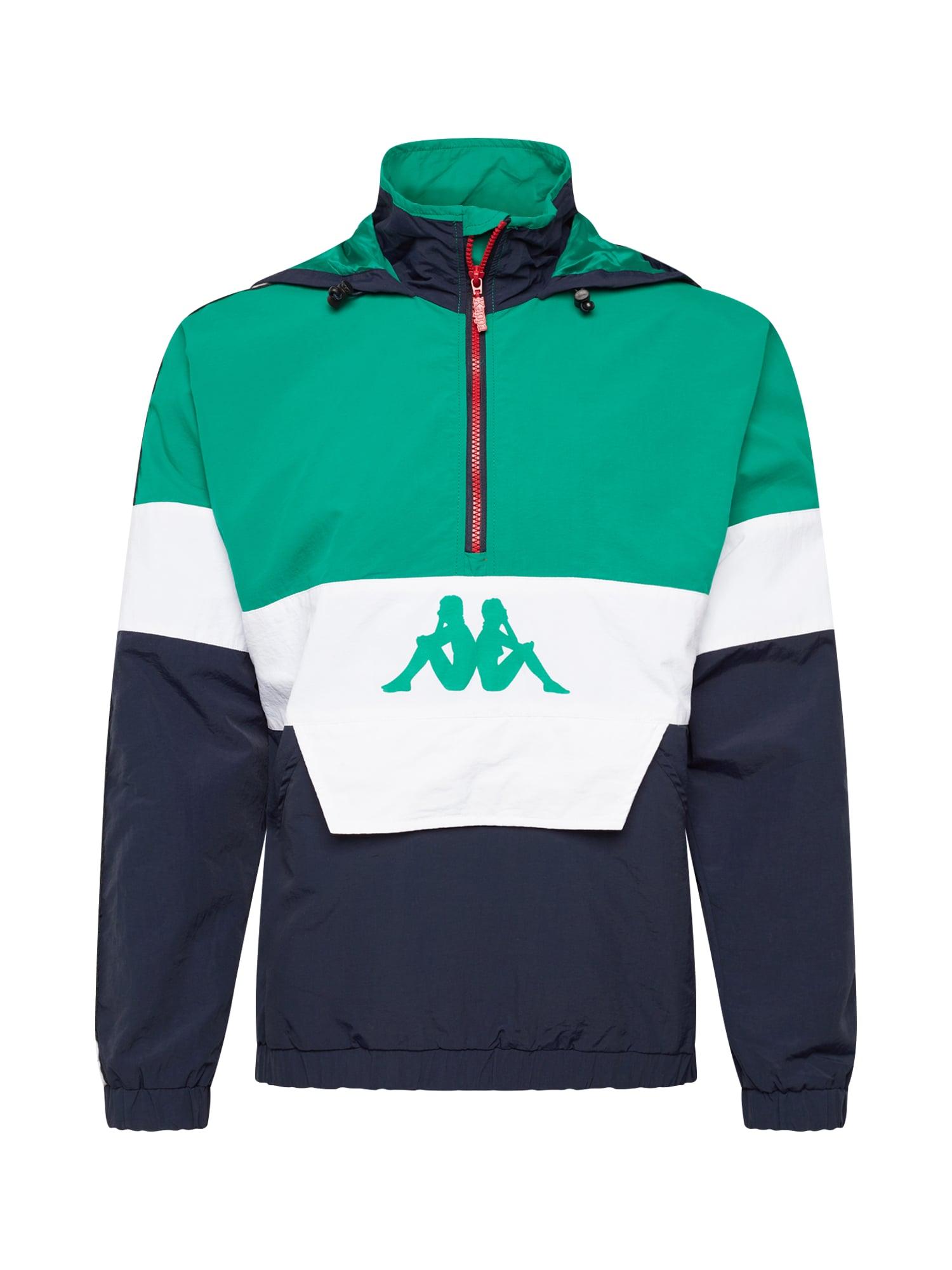 Přechodná bunda EMILE zelená černá bílá KAPPA