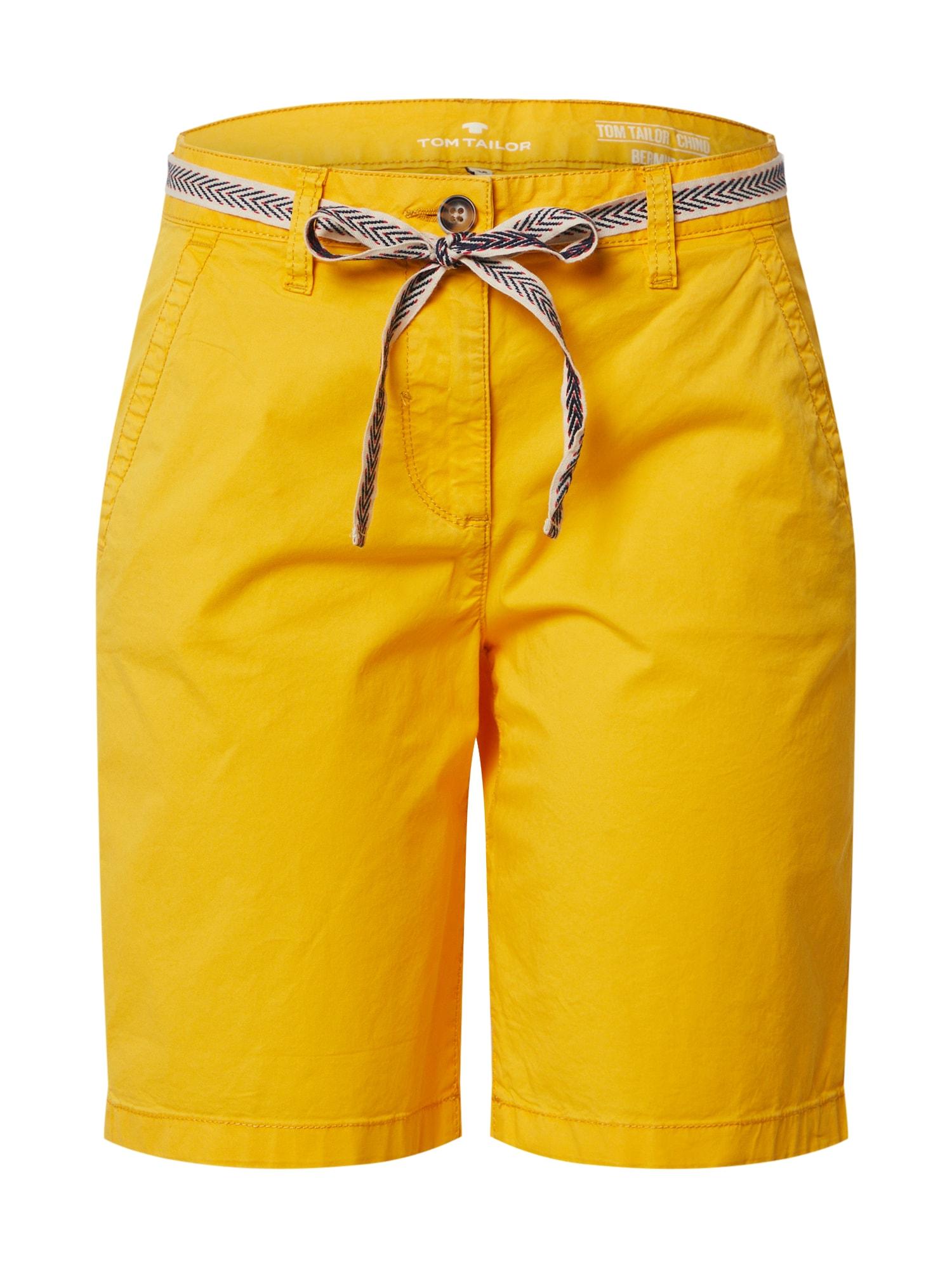 TOM TAILOR Kalhoty  zlatě žlutá