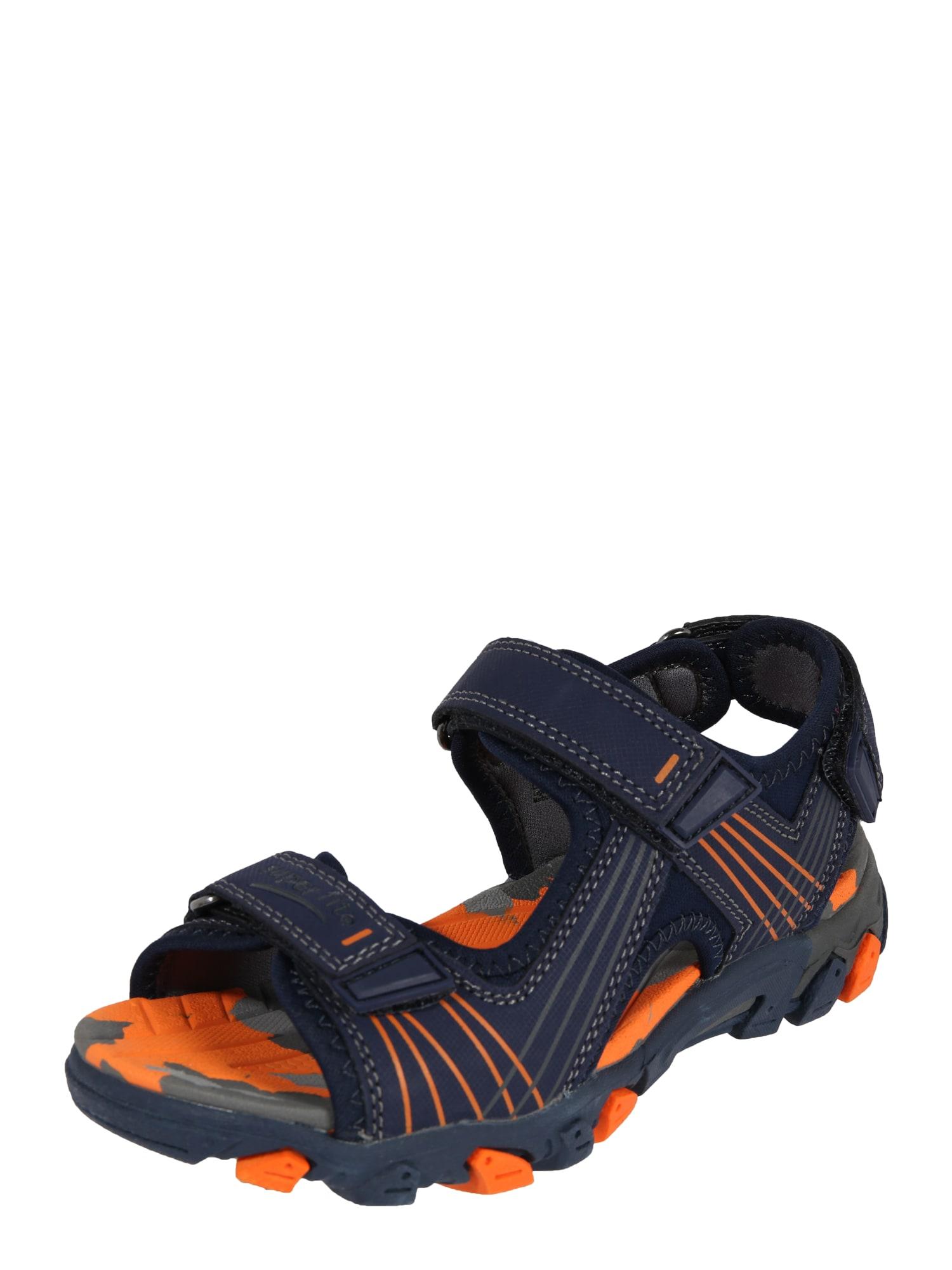 Otevřená obuv HENRY modrá oranžová SUPERFIT