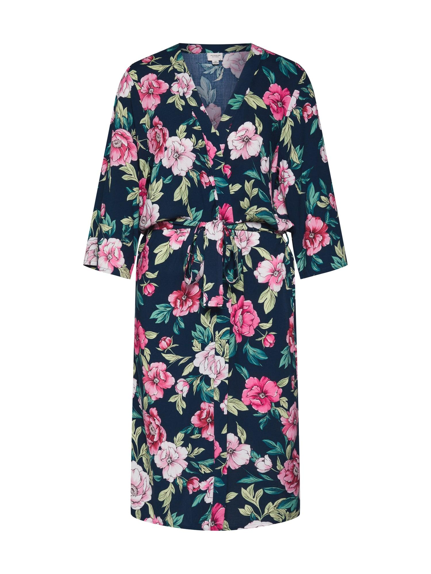 Kimono JDYSTAR 34 KIMONO WVN FS námořnická modř pink JACQUELINE De YONG