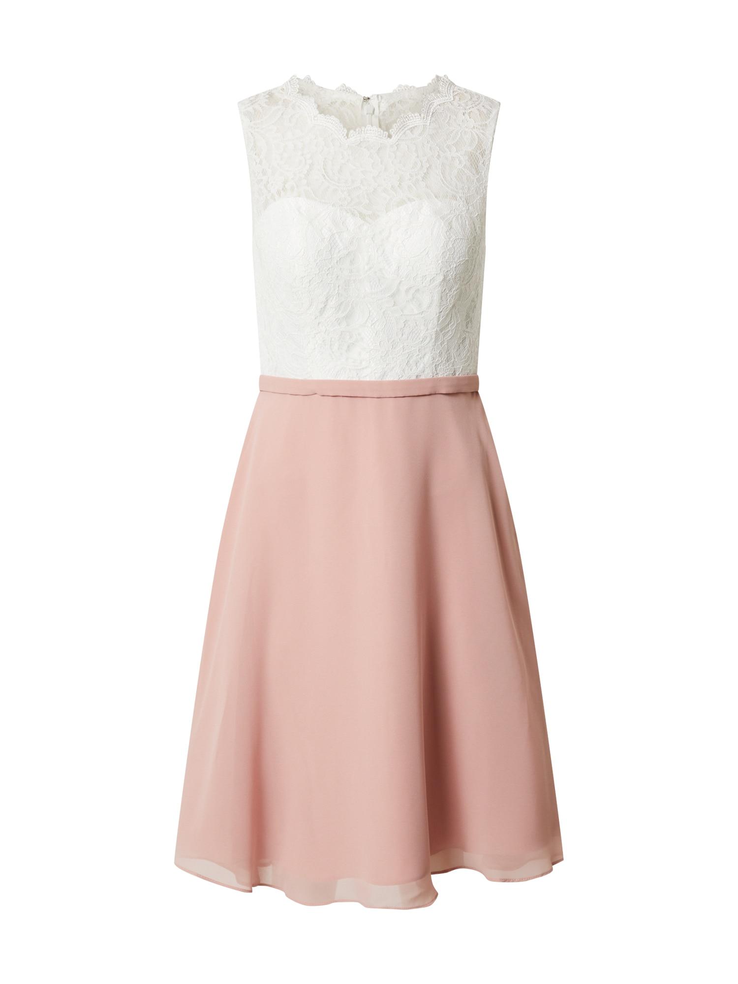 mascara Kokteilinė suknelė rožinė / dramblio kaulo