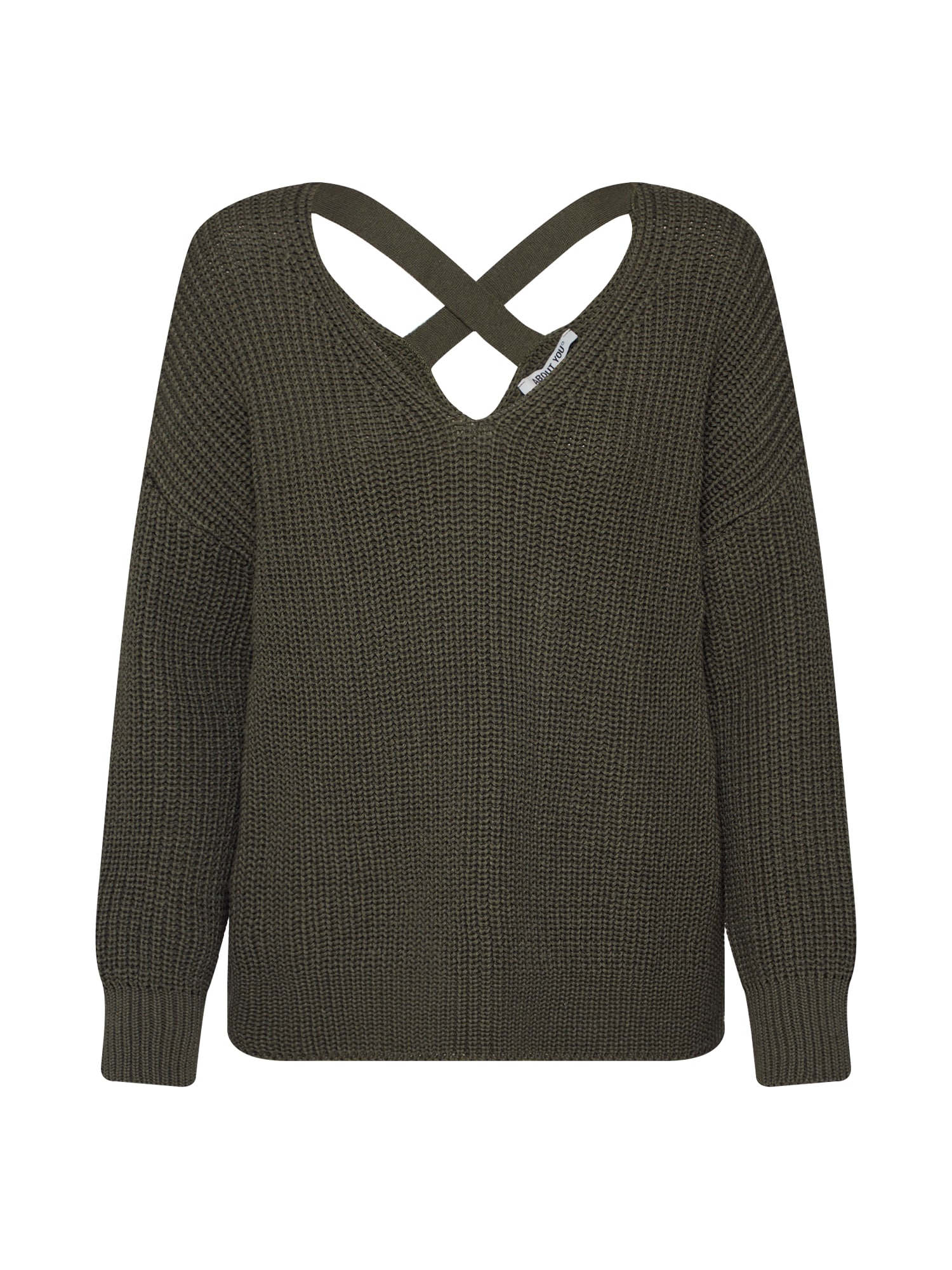 ABOUT YOU Megztinis 'Liliana' tamsiai žalia