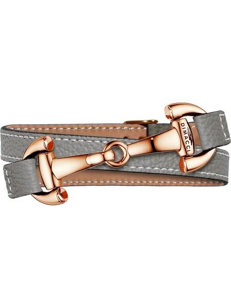 Armbaender für Frauen - Dimacci Armband 'Alba' braun bronze silbergrau naturweiß  - Onlineshop ABOUT YOU