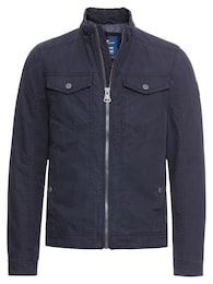 TOM TAILOR Herren Übergangsjacke Blouson With Patched Pockets blau | 04060586189199