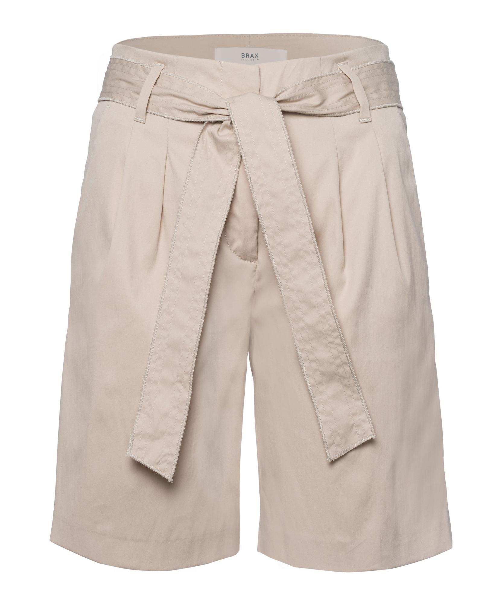BRAX Klostuotos kelnės 'Milla B' smėlio