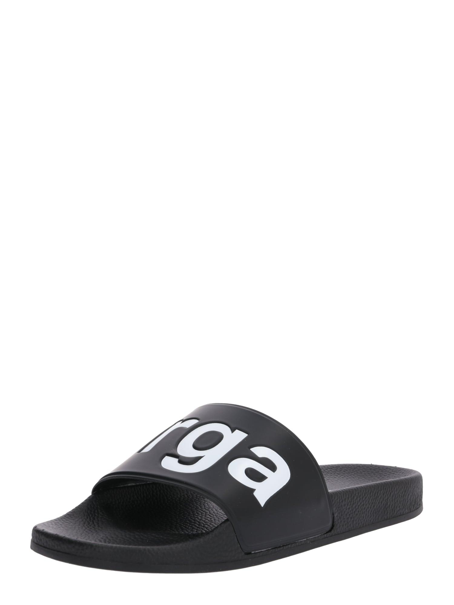 SUPERGA Šľapky  čierna / biela