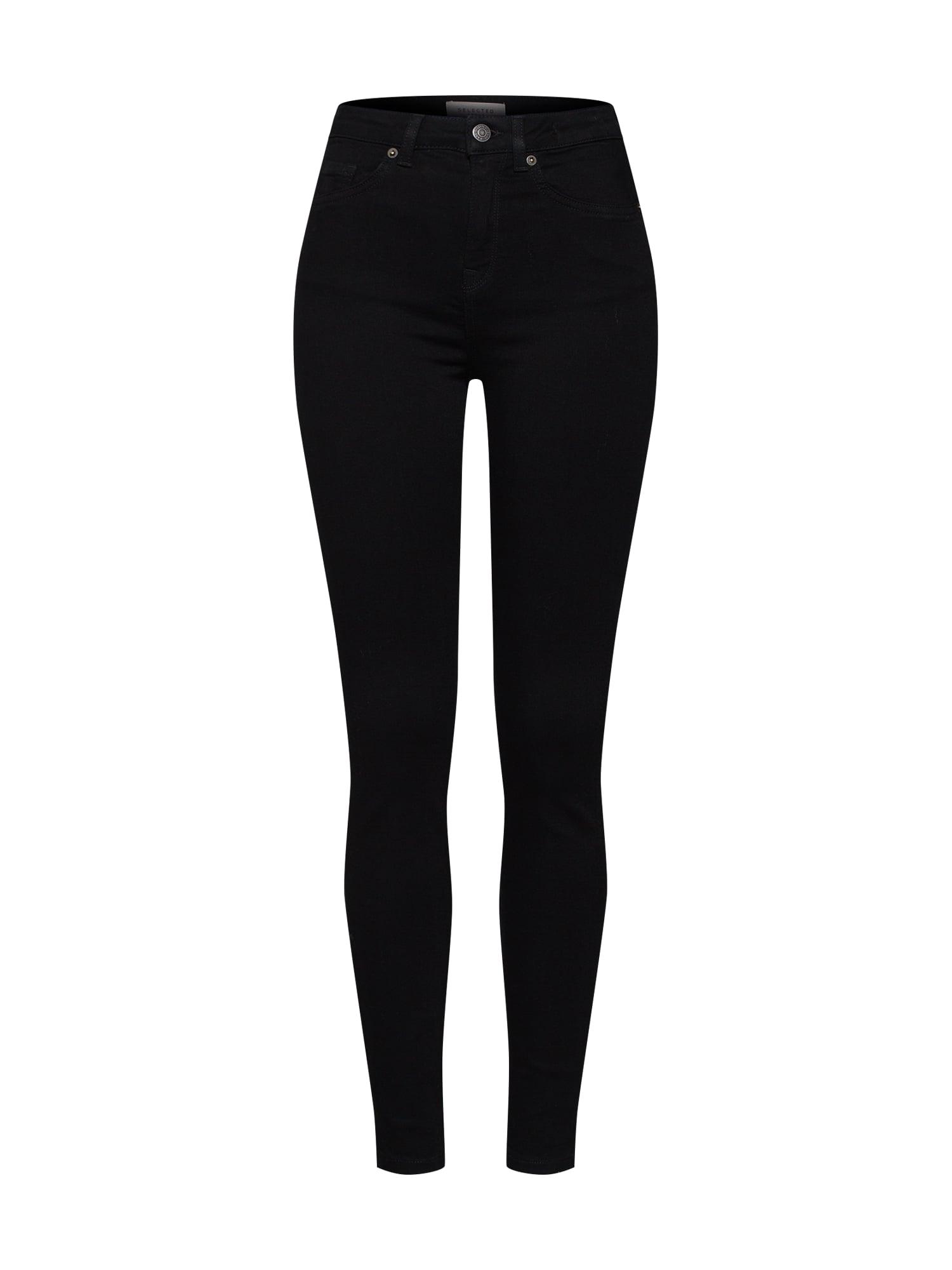 SELECTED FEMME Džinsai juodo džinso spalva